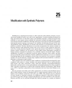 Modification with Synthetic Polymers