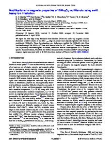 Modifications in magnetic properties of BiMn2O5 ...