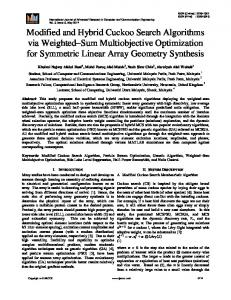 Modified and Hybrid Cuckoo Search Algorithms via Weighted ... - ijarcce