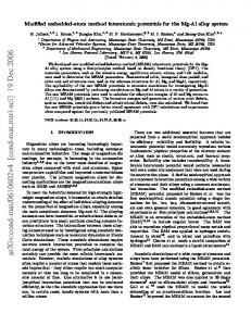 Modified embedded-atom method interatomic potentials for the Mg-Al ...