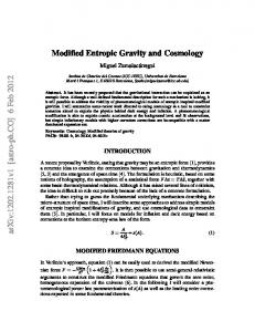 Modified Entropic Gravity and Cosmology
