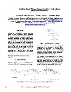 Modified Glycol Chitosan Nanocarriers Carry Hydrophobic Materials ...