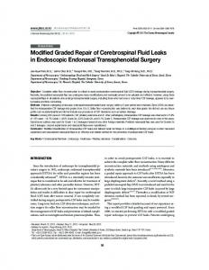 Modified Graded Repair of Cerebrospinal Fluid