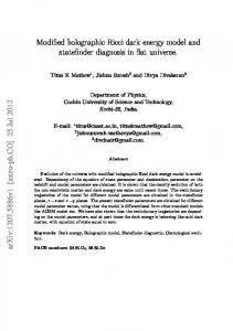 Modified holographic Ricci dark energy model and ... - CiteSeerX