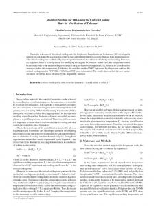 Modified Method for Obtaining the Critical Cooling Rate for ... - SciELO