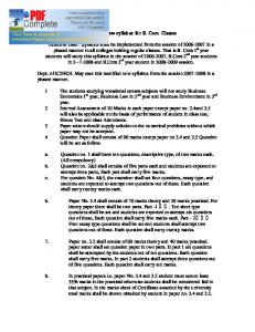 Modified new syllabus for B. Com. Classes Effective Date: Syllabus ...