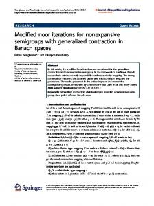 Modified noor iterations for nonexpansive semigroups ... - Springer Link