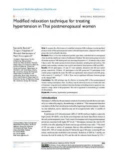 Modified relaxation technique for treating ... - Semantic Scholar