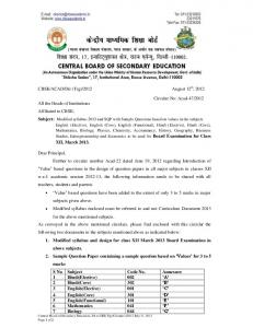 Modified syllabus-2013 and SQP with Sample Questions ... - CBSE