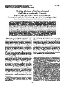 Modified Virulence of Antibiotic-Induced Burkholderia pseudomallei ...