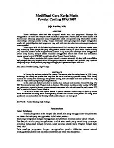 Modifikasi Cara Kerja Mesin Powder Coating EPG 2007 - File UPI