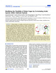 Modifying the Flexibility of Water Cages by Co-Including Acidic ...