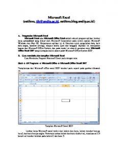 Modul Microsoft Excel Office 2007 - sutikno
