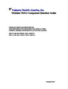 Modular Drive Component Selection Guide