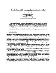 Modular Executable Language Specifications in ... - LARA and EPFL