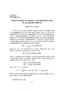 MODULAR FORMS OF DEGREE n AND ... - Project Euclid