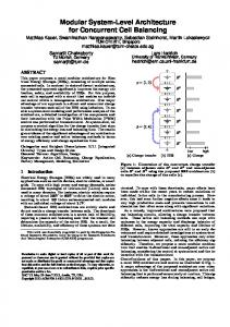 Modular System-Level Architecture for Concurrent Cell Balancing