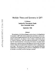 Modular Theory and Symmetry in QFT