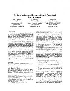 Modularisation and Composition of Aspectual ... - Semantic Scholar