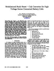 Modularized Buck-Boost + Cuk Converter for High Voltage Series ...