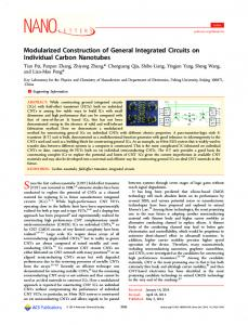 Modularized Construction of General Integrated ... - ACS Publications