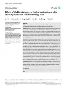 modulated radiation therapy plans - Wiley Online Library