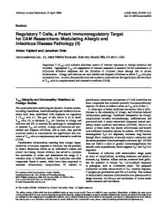 Modulating Allergic and Infectious Disease Pathology - BioMedSearch