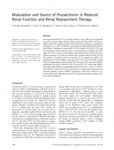 Modulation and Source of Procalcitonin in ... - Wiley Online Library