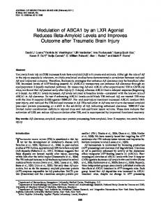 Modulation of ABCA1 by an LXR Agonist Reduces Beta-Amyloid ...