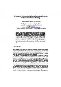 Modulation of Attention by Faces Expressing Emotion: Evidence from