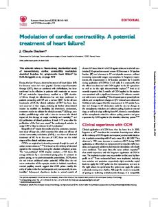 Modulation of cardiac contractility. A potential ...