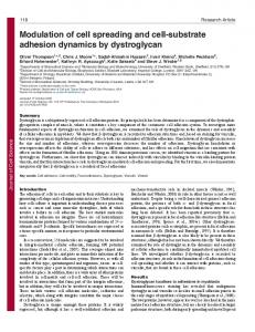 Modulation of cell spreading and cell-substrate adhesion dynamics by ...