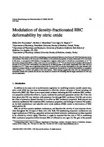 Modulation of density-fractionated RBC deformability by ... - IOS Press