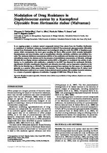 Modulation of drug resistance in staphylococcus ... - Wiley Online Library