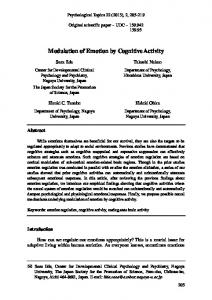 Modulation of Emotion by Cognitive Activity