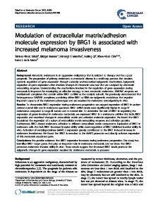 Modulation of extracellular matrix/adhesion molecule expression by ...