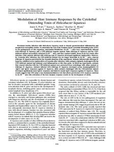 Modulation of Host Immune Responses by the Cytolethal Distending ...