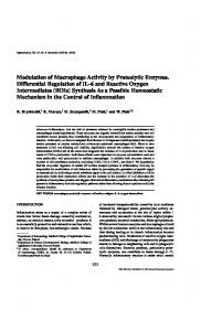 Modulation of Macrophage Activity by Proteolytic Enzymes. Differential