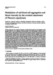 Modulation of red blood cell aggregation and blood ... - CiteSeerX