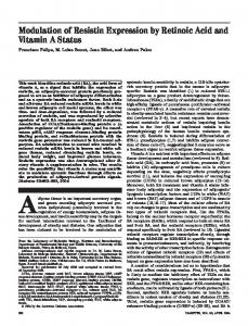 Modulation of Resistin Expression by Retinoic Acid and ... - Diabetes