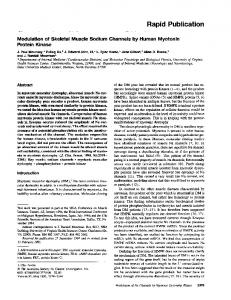 Modulation of Skeletal Muscle Sodium Channels by Human Myotonin ...