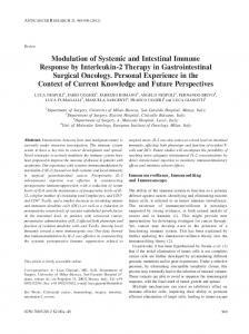 Modulation of Systemic and Intestinal Immune Response ... - CiteSeerX