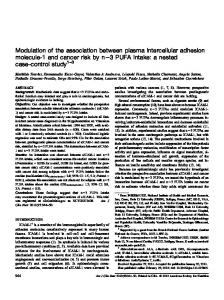 Modulation of the association between plasma intercellular adhesion ...