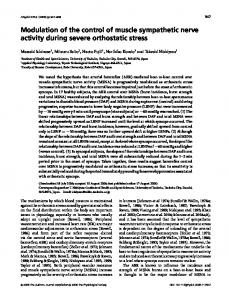 Modulation of the control of muscle sympathetic ... - Wiley Online Library
