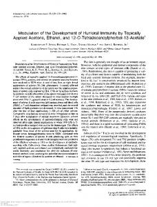 Modulation of the Development of Humoral Immunity by Topically ...