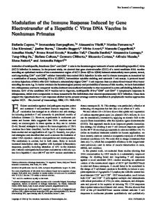 Modulation of the Immune Response Induced by Gene Electrotransfer ...