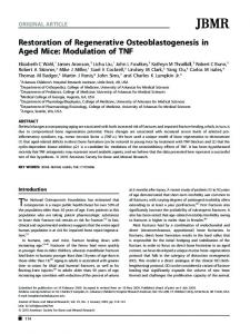 Modulation of TNF - Wiley Online Library