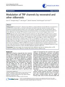 Modulation of TRP channels by resveratrol and other ... - SAGE Journals