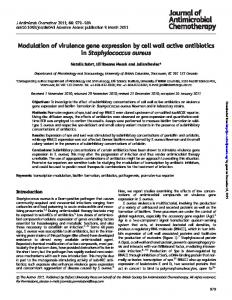 Modulation of virulence gene expression by cell wall ...