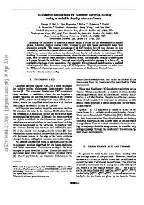 Modulator simulations for coherent electron cooling using a variable ...